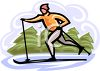 Man on Cross Country Skis clipart
