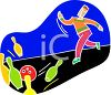 Guy Bowling clipart