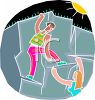 Rock Climbers  clipart