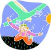 Skydiver Falling from a Plane clipart