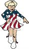Majorette in a Fourth of July Parade clipart