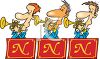 Cartoon of the Horn Section of a Big Band clipart