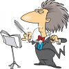 Gray Haired Orchestra Leader clipart