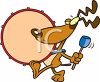Doggy Playing the Drum in a Marching Band clipart