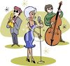 Retro Jazz Trio clipart