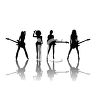 Silhouette of a Sexy All Girl Band clipart