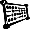 Abacus in black and white clipart