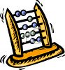 Cartoon abacus clipart