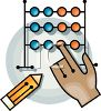 Using an abacus clipart