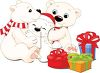 Polar Bear Family Christmas clipart