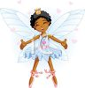 Ethnic Faerie Princess with Her Arms Outspread for a Hug clipart