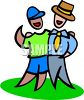 Brothers with Different  Life Styles clipart