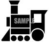 Toy choo choo train clipart