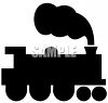 Toy choo choo train steam locomotive clipart