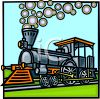 Olde tyme choo choo train clipart
