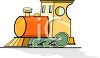 Colorful childs toy choo choo train clipart