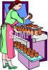 Woman Working at a Pottery Factory clipart