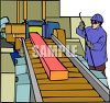 Person Working on a Production Line clipart