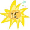 Whimsical Sun with Stars clipart