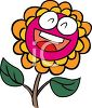 Smiling Cartoon Flower clipart
