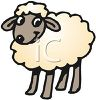 Cute Cartoonish Lamb clipart