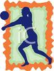 Female Volleyball Player Icon  clipart
