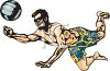 Guy Playing Beach Volleyball clipart
