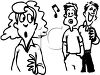 Men whistling at a pretty girl clipart
