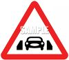 Road Sign Showing a Car on a Narrow Bridge clipart