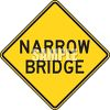 Narrow Bridge Road Sign  clipart