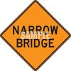 Orange Road Sign for Narrow Bridge clipart
