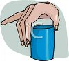 Hand Picking Up a Glass clipart
