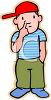 Cute Little Boy Picking His Nose clipart