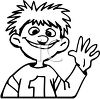Kid Waving Hello clipart