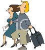 Couple Going on a Trip with Their Luggage clipart