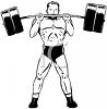 Vintage Weightlifter Lifting a Barbell clipart