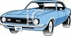 Vintage American Muscle Car  clipart