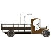 Old Vintage Flatbed Farm Truck clipart