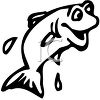 Leaping fish clipart