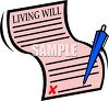 Living Will with a Pen clipart