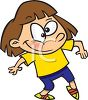 Cartoon of a Cute Little Girl Tiptoeing Around clipart