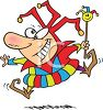 Cartoon of a Hilarious Looking Court Jester clipart