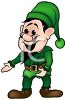 Cartoon of One of Santa's Elves clipart