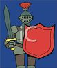 Armored Knight with Sword and Shield clipart