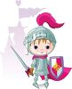 Cute Little Knight in Shining Armor clipart