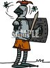 Pesky Flies Bothering an Armored Knight clipart