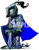 Really Short Knight with a Sword clipart