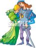 Knight with His Lady clipart