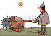Knight Using a Catapult clipart