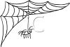 Spider Hanging From It's Web clipart